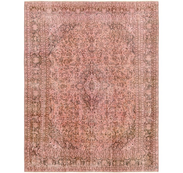 9' 3 x 11' 10 Ultra Vintage Persian Rug
