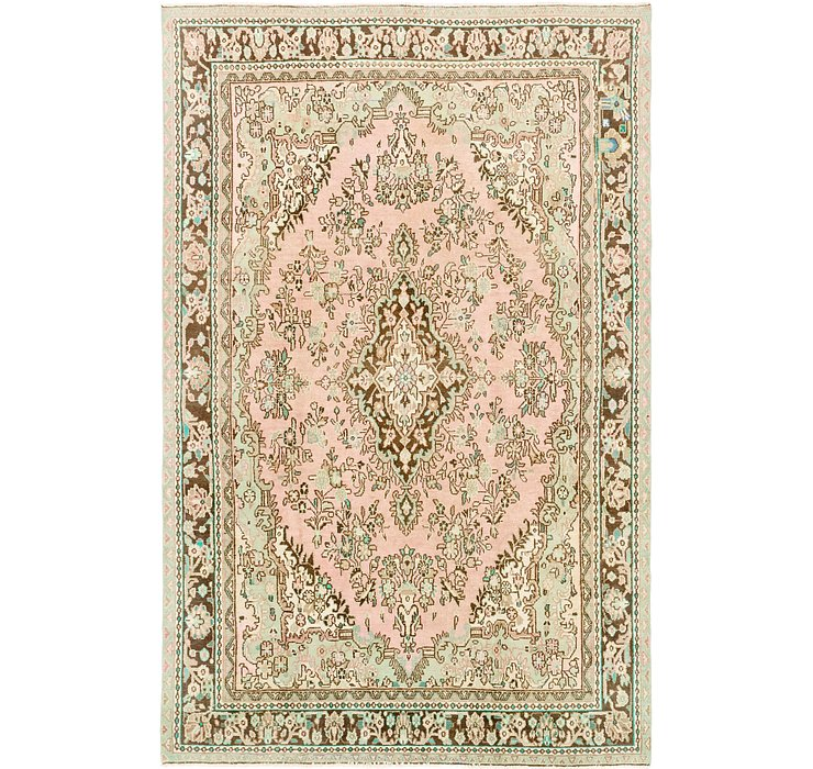 6' 9 x 10' 4 Ultra Vintage Persian Rug