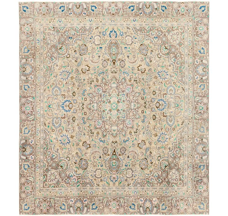 8' 10 x 9' 10 Ultra Vintage Persian S...