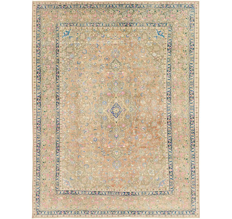 295cm x 385cm Ultra Vintage Persian Rug