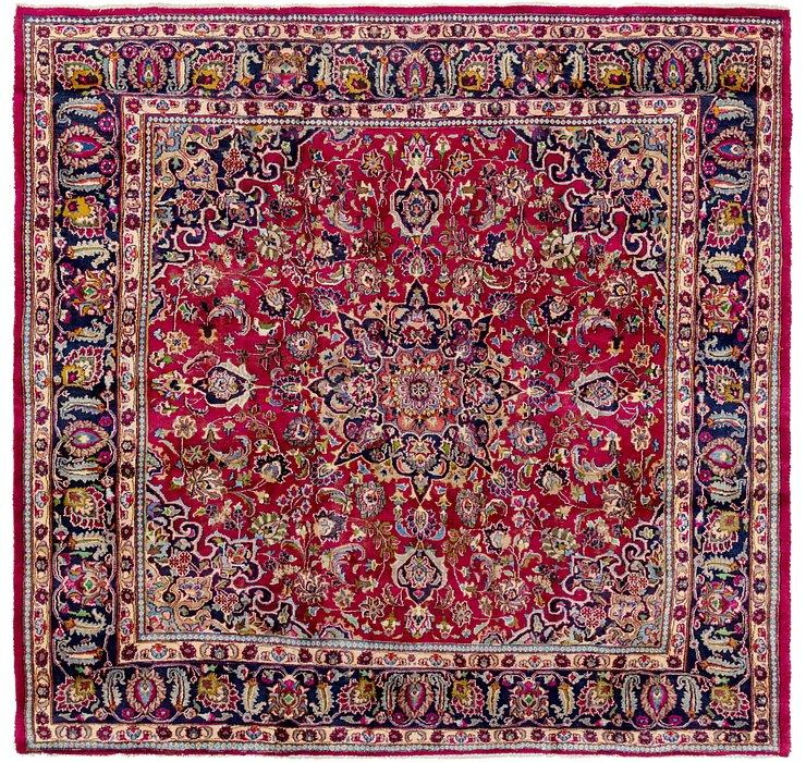9' 6 x 9' 9 Mashad Persian Square Rug