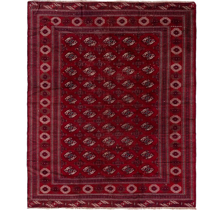 9' x 11' Torkaman Persian Rug