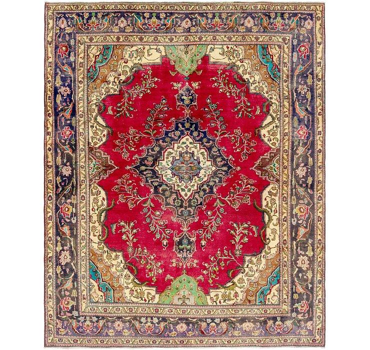 9' 9 x 12' 2 Tabriz Persian Rug
