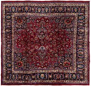 Link to 9' x 9' 3 Mashad Persian Square Rug