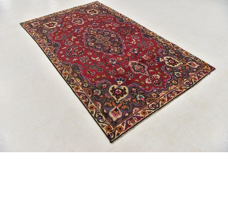 5' x 8' 4 Mashad Persian Rug