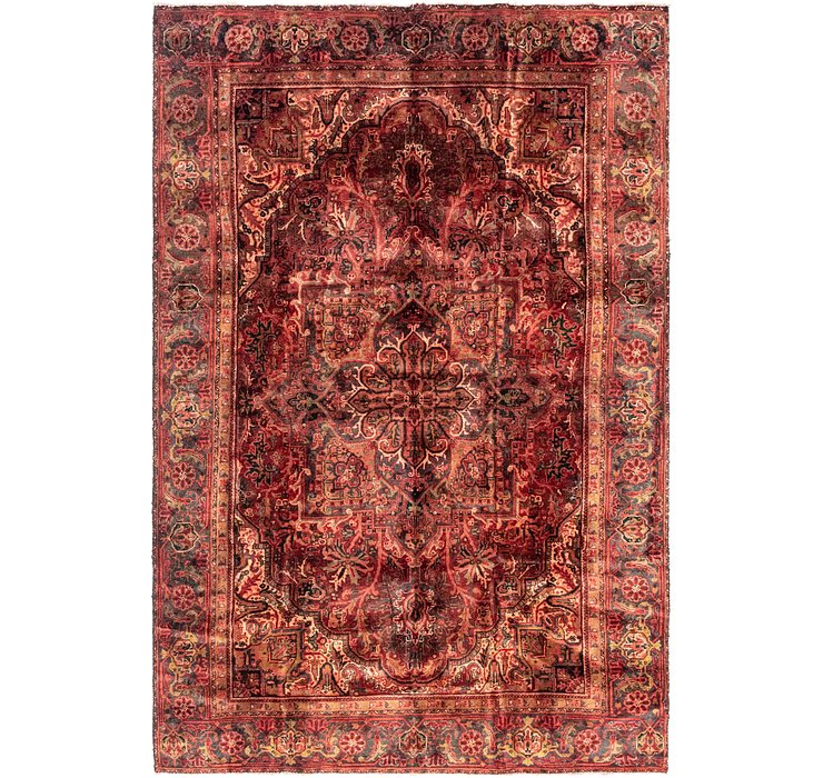 7' 5 x 11' Heriz Persian Rug