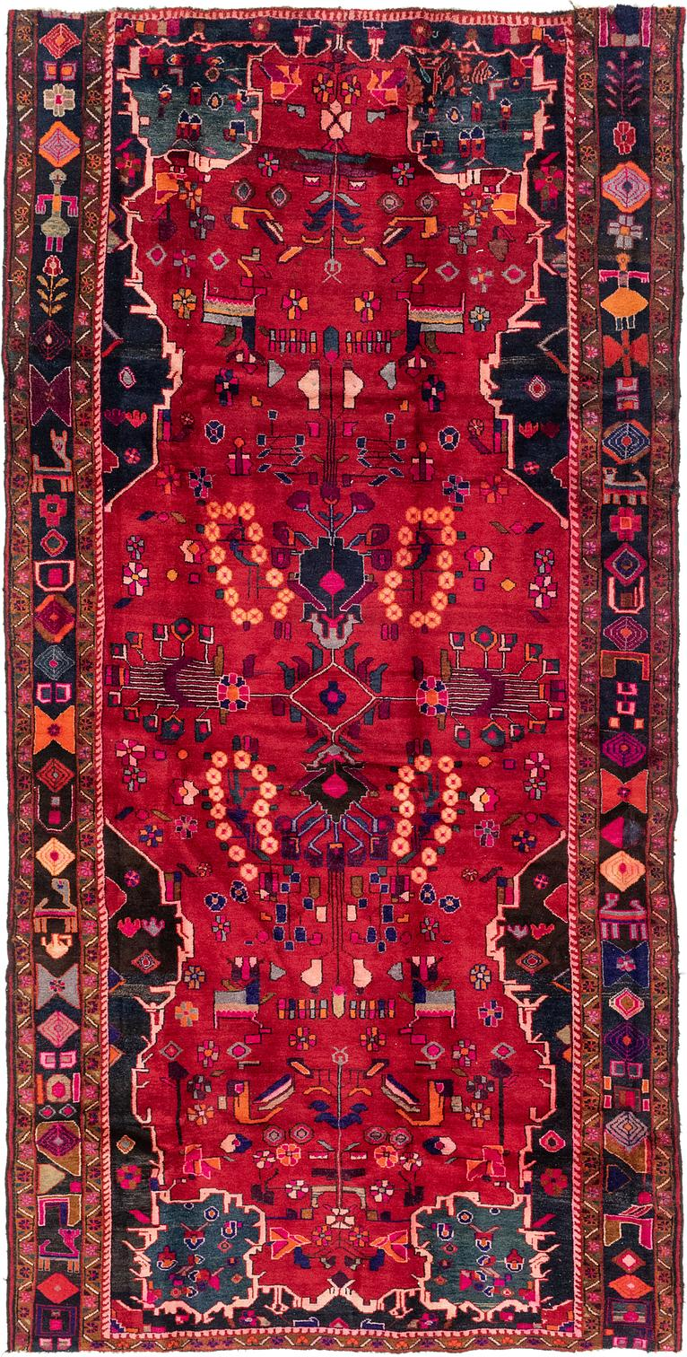 Red 6 3 X 12 7 Hamedan Persian Runner Rug Persian Rugs