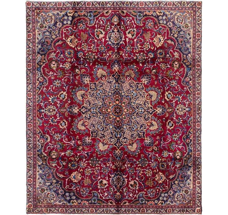 7' 2 x 9' 10 Mashad Persian Rug