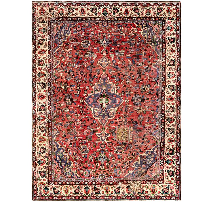 9' x 12' 6 Hamedan Persian Rug