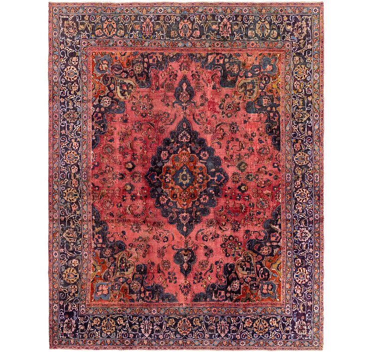 9' 6 x 11' 10 Mashad Persian Rug
