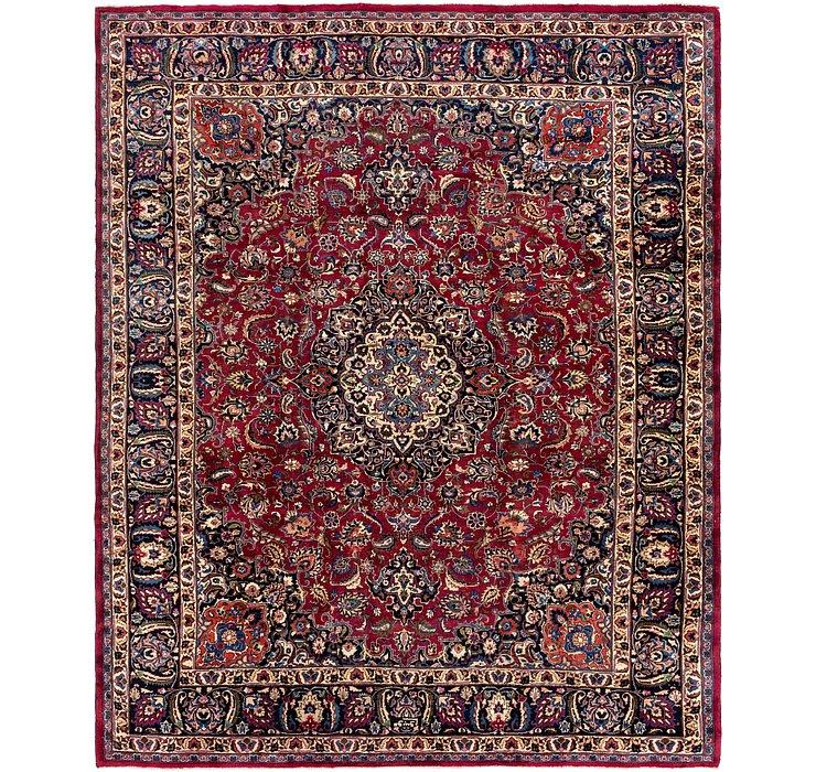 HandKnotted 9' 8 x 12' Mashad Persian Rug