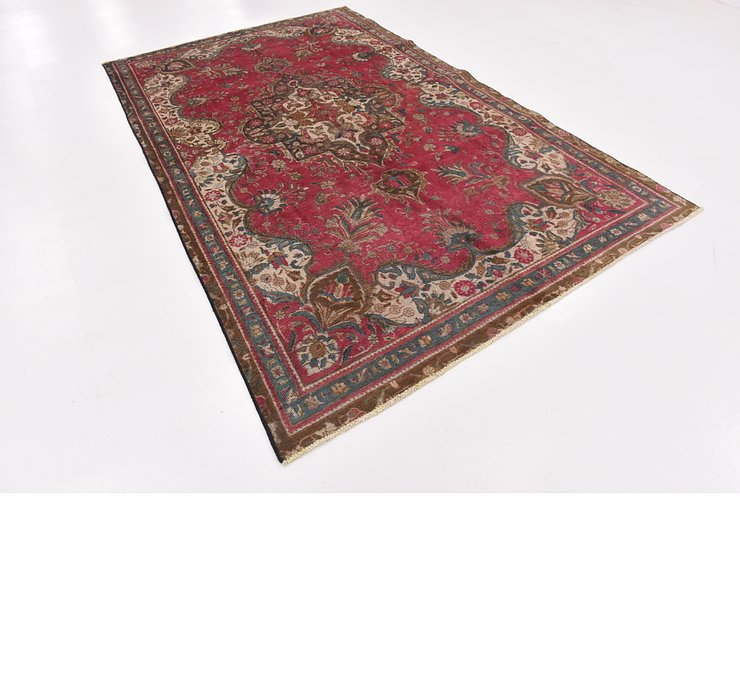 HandKnotted 6' x 9' 6 Tabriz Persian Rug
