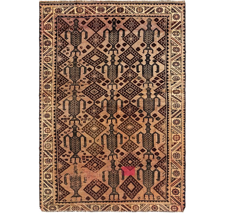 6' 2 x 9' Shiraz Persian Rug