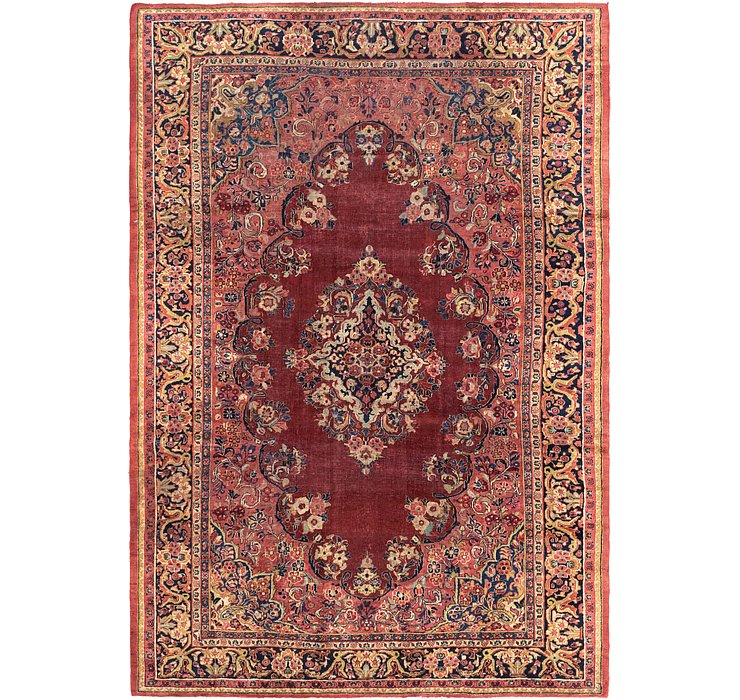 8' 8 x 12' 7 Meshkabad Persian Rug