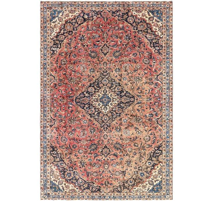 7' x 10' 7 Kashan Persian Rug
