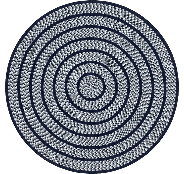 5' 10 x 6' Braided Chindi Round Rug