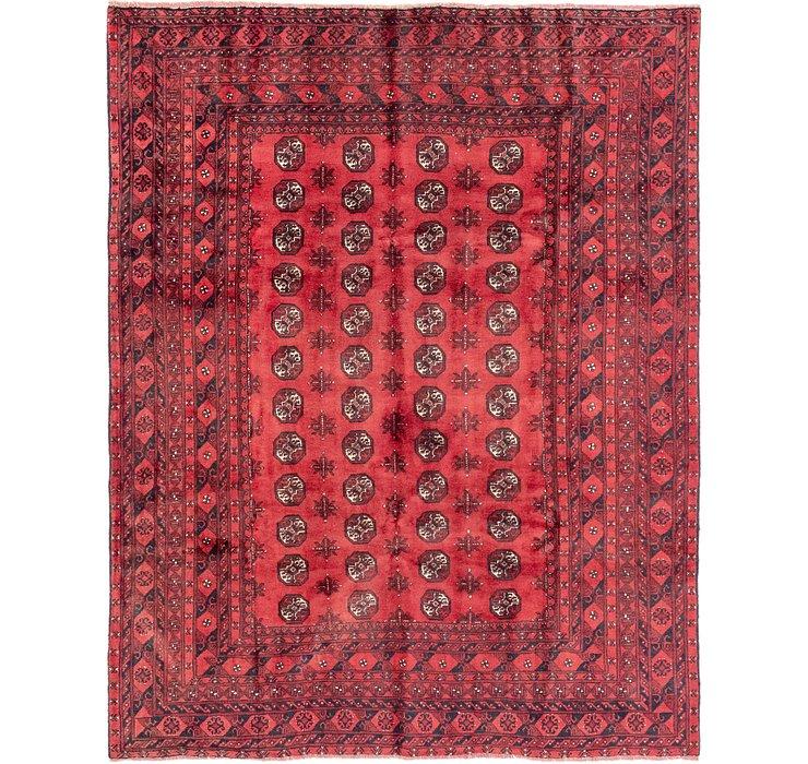 6' 7 x 8' 7 Afghan Akhche Rug