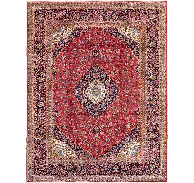 9' 8 x 12' 4 Kashan Persian Rug