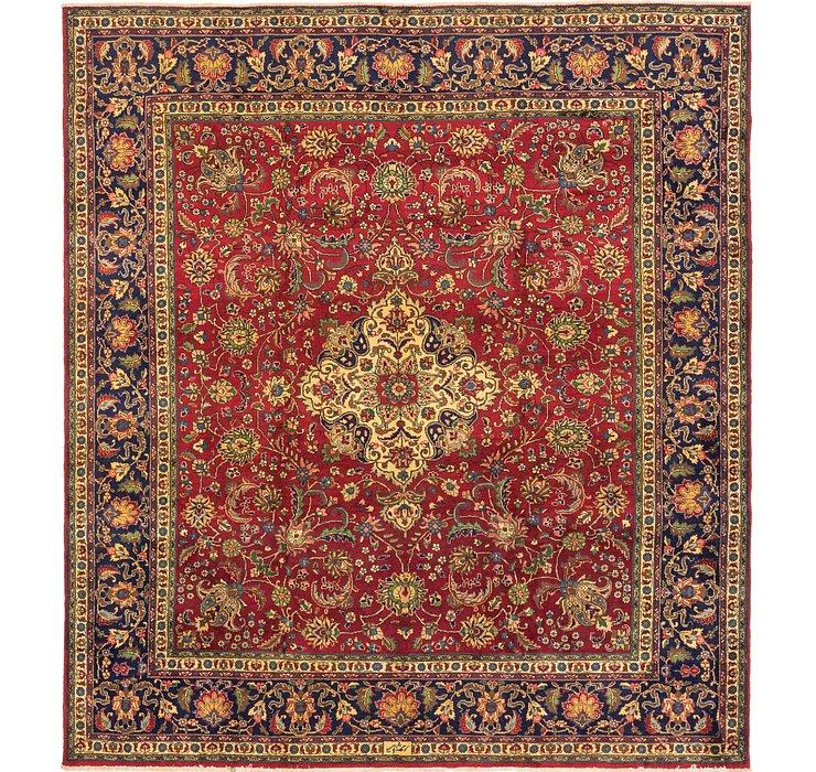 10' x 11' Tabriz Persian Square Rug