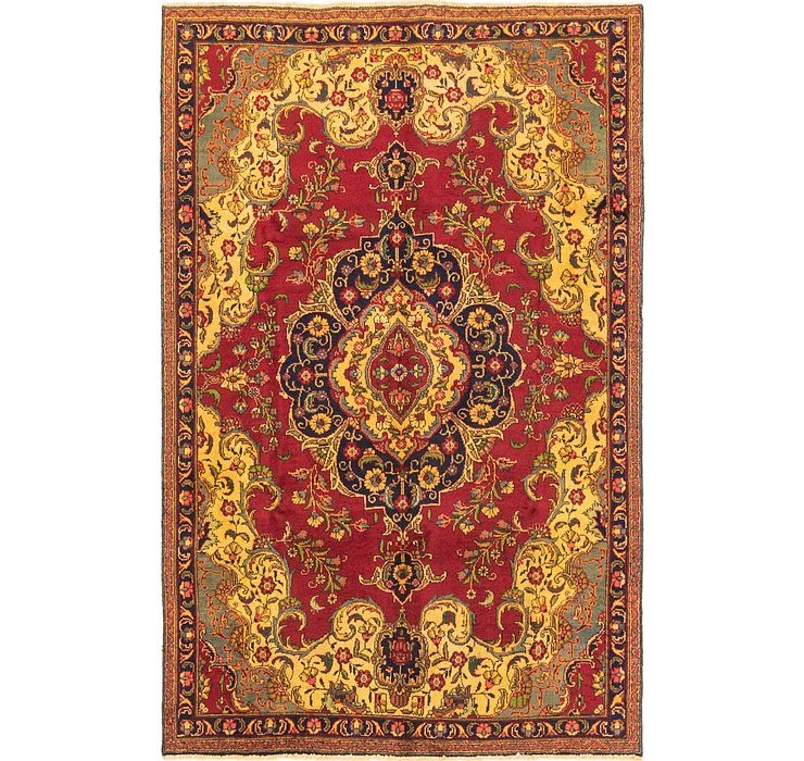 6' x 9' 2 Tabriz Persian Rug