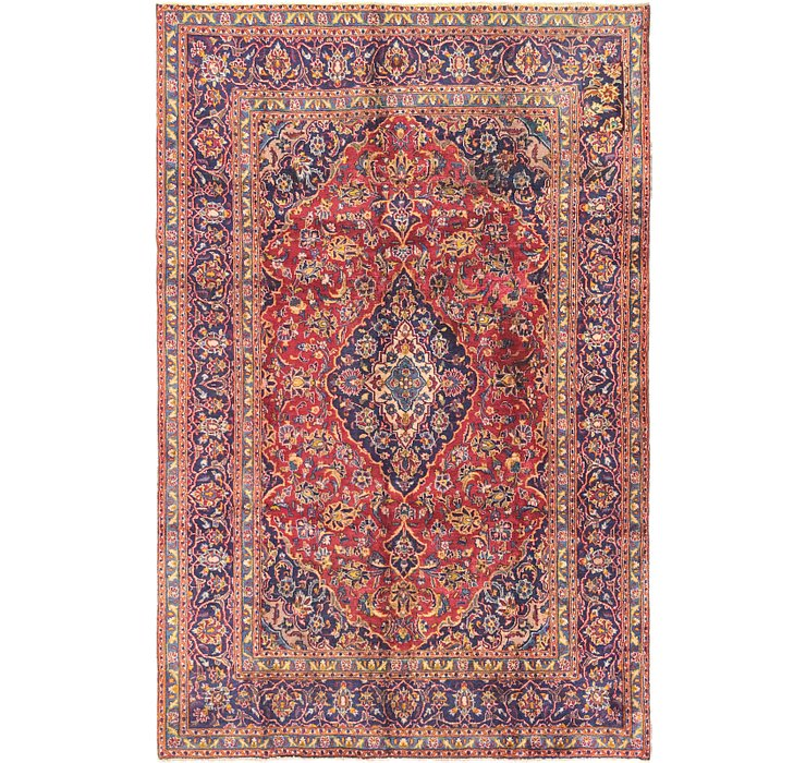 6' 2 x 9' 5 Mashad Persian Rug