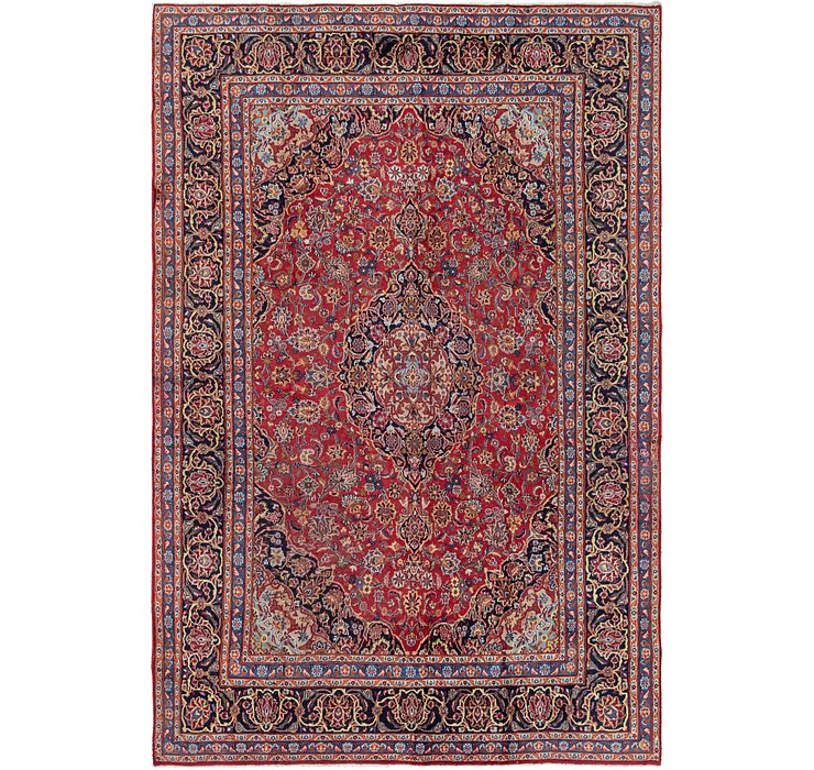 HandKnotted 8' x 11' 10 Mashad Persian Rug