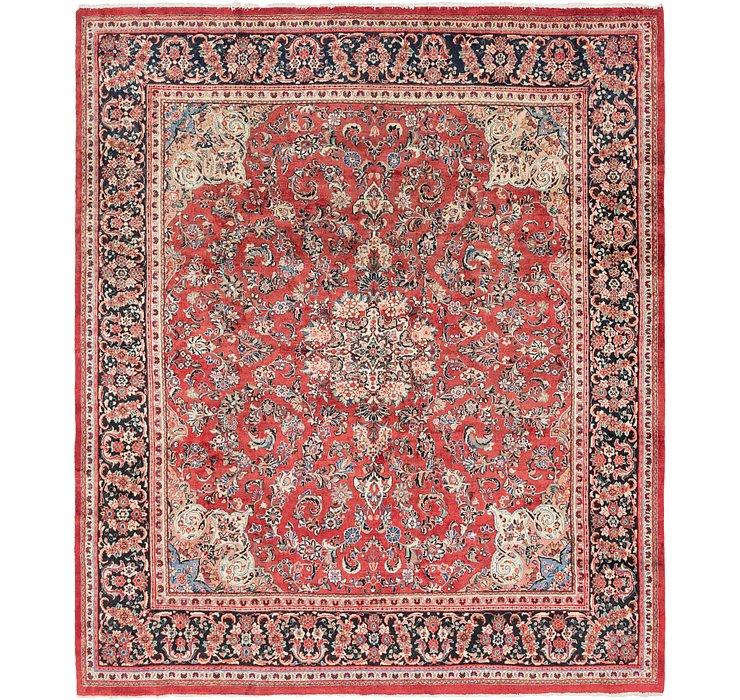 318cm x 365cm Meshkabad Persian Rug