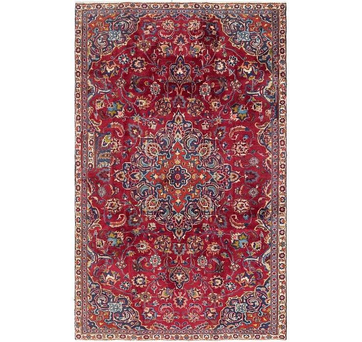4' 8 x 7' 9 Mashad Persian Rug