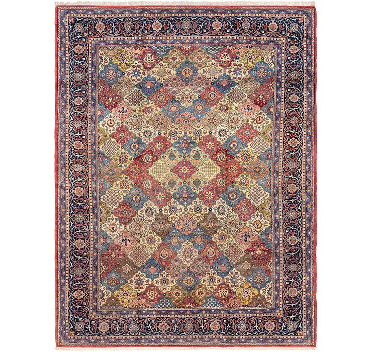 9' 10 x 13' 2 Sarough Persian Rug