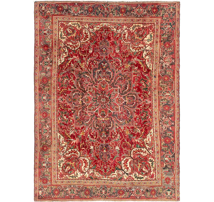 7' 10 x 11' Heriz Persian Rug