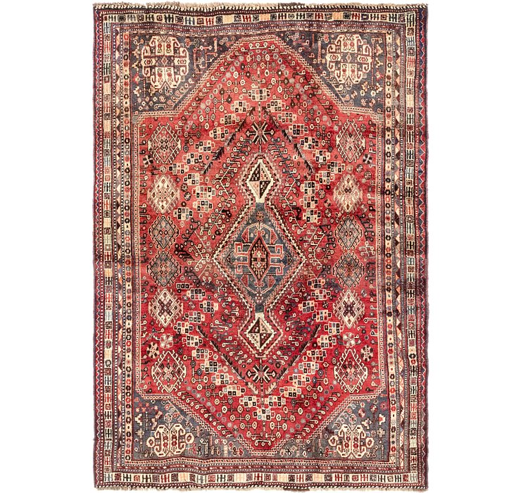 5' 9 x 8' 5 Ghashghaei Persian Rug