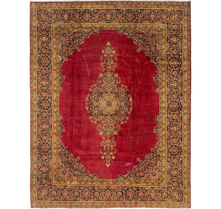 9' x 11' 7 Kashan Persian Rug