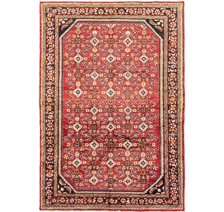 218cm x 315cm Hossainabad Persian Rug