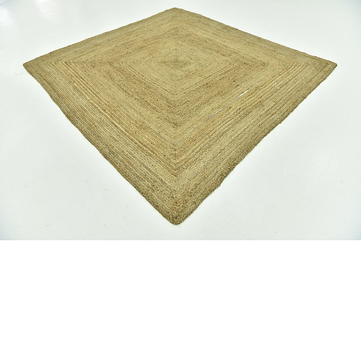 245cm x 245cm Braided Jute Square Rug
