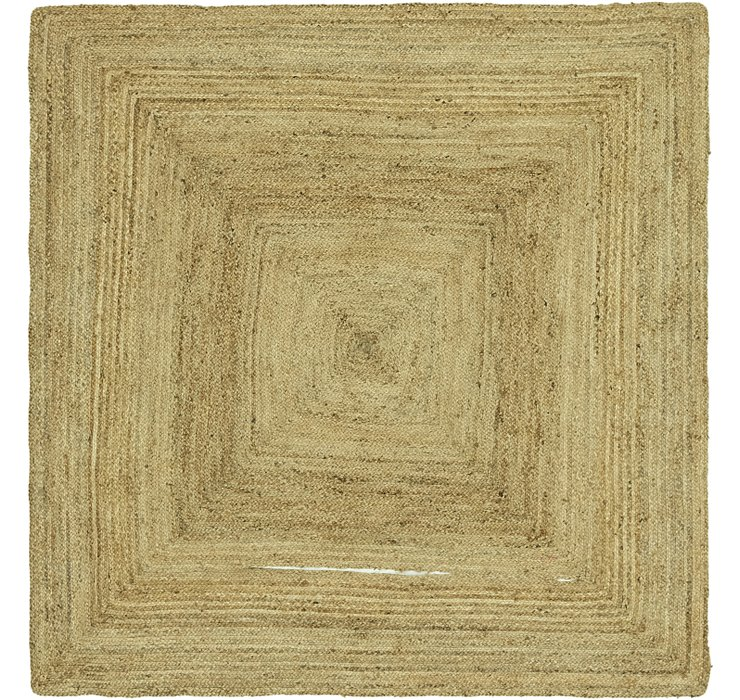245cm x 245cm Braided Jute Square Rug