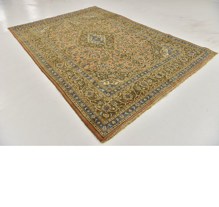 HandKnotted 6' 7 x 9' 8 Mashad Persian Rug