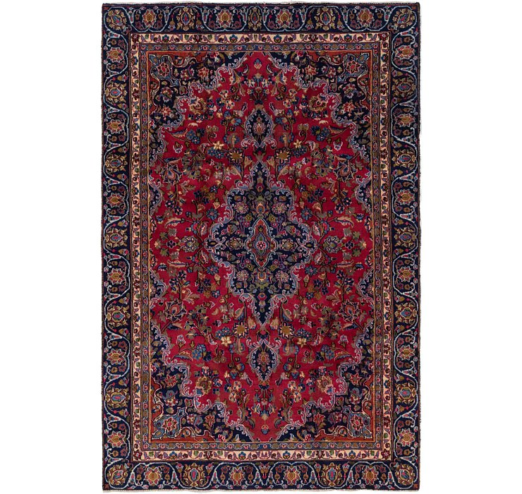 5' 9 x 9' 2 Mashad Persian Rug