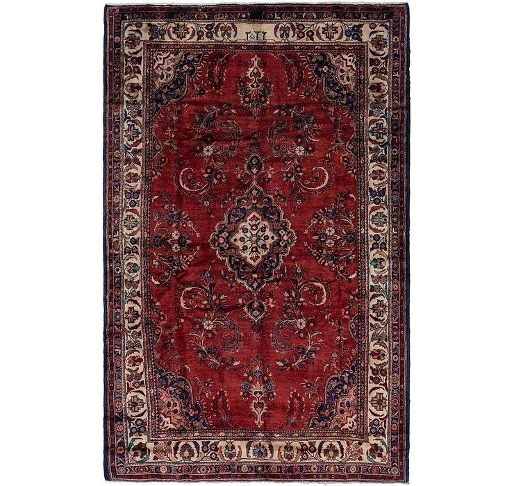 7' x 11' Hamedan Persian Rug