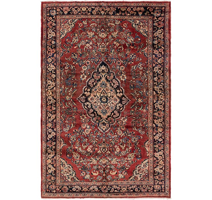 198cm x 305cm Meshkabad Persian Rug