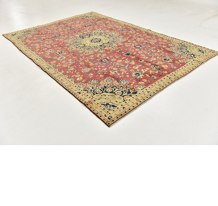 HandKnotted 7' x 10' 4 Mashad Persian Rug