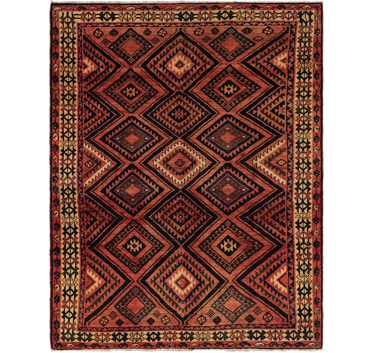 213cm x 275cm Shiraz-Lori Persian Rug