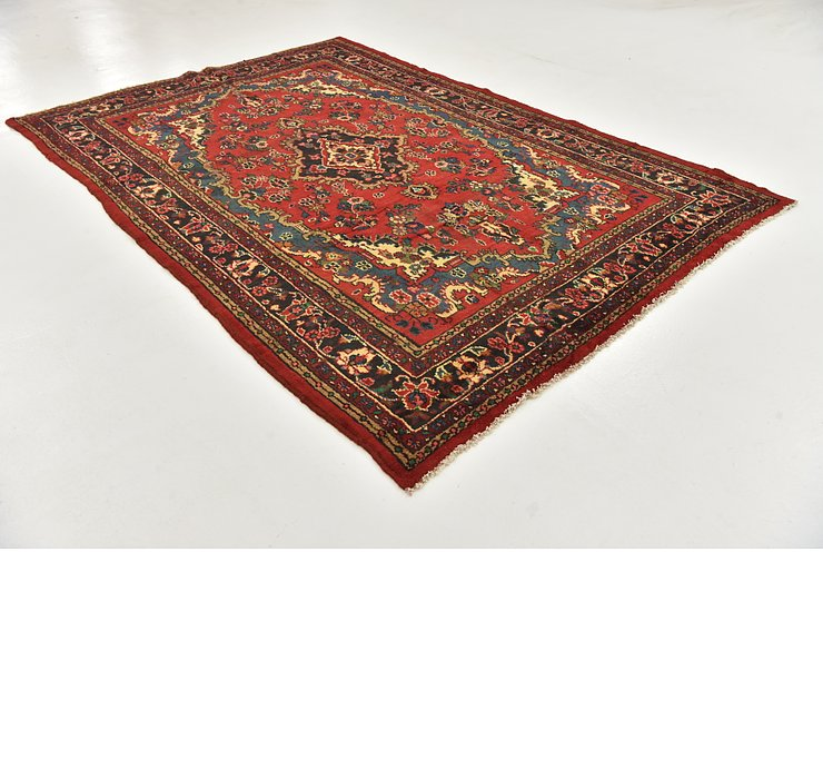 HandKnotted 6' 7 x 10' Hamedan Persian Rug