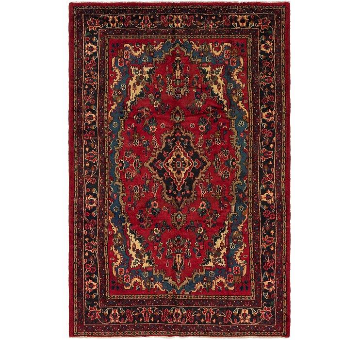 6' 7 x 10' Hamedan Persian Rug