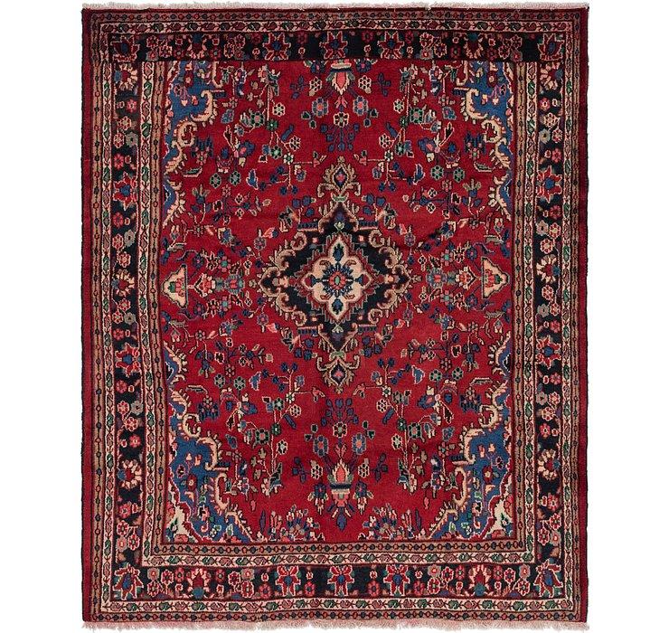 7' 2 x 8' 7 Hamedan Persian Rug