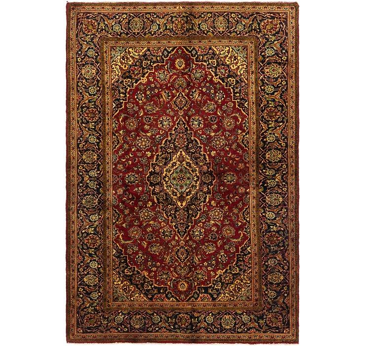 6' 7 x 9' 8 Kashan Persian Rug