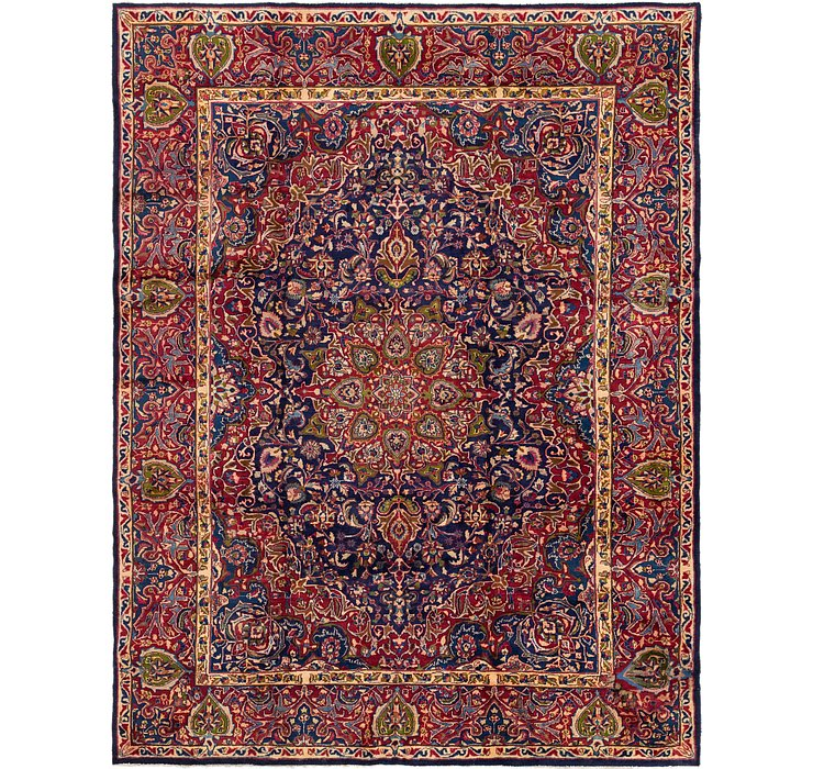 HandKnotted 9' 9 x 12' 10 Mashad Persian Rug