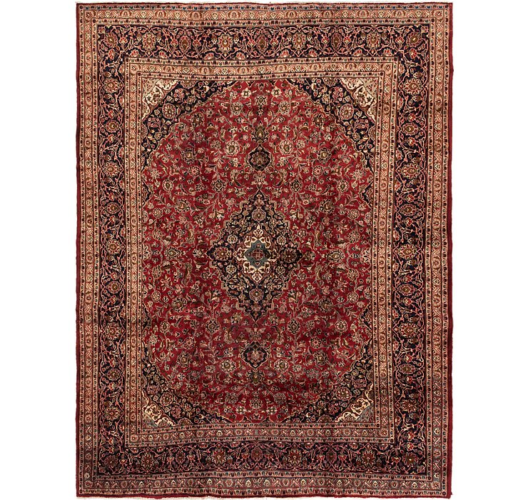 HandKnotted 9' 7 x 12' 6 Mashad Persian Rug