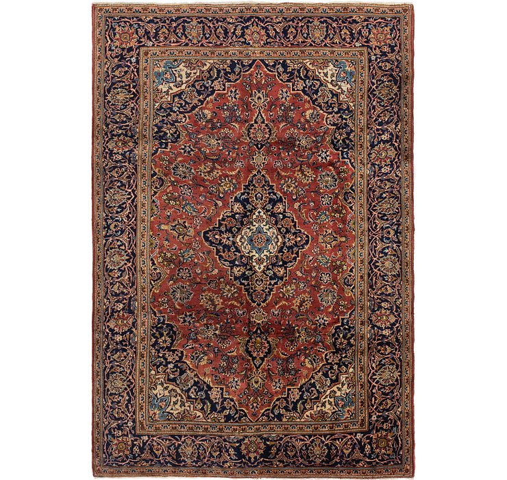 6' 4 x 9' 8 Kashan Persian Rug