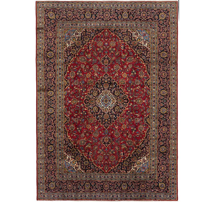 245cm x 343cm Kashan Persian Rug