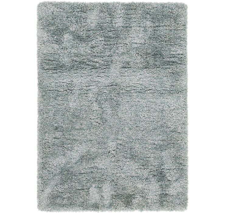 5' 6 x 7' 6 Luxury Solid Shag Rug